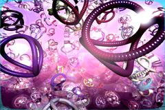 Abstract background. With 3D designs resembling worms royalty free illustration