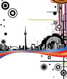 Abstract Background. Illustration of abstract design city Stock Photography