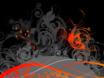 Abstract  background. With butterfly. A vector format is added. Suits well for a postcard or background Stock Images