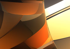 Abstract Background 47. Study of form and color, 3D rendered image produced with Bryce vector illustration