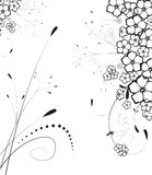 Abstract  background. Abstract floral background. A vector format is added. Suits well for a postcard or background Stock Image