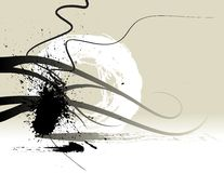 Abstract background. Abstract grunge background with black ink paint elements Royalty Free Illustration