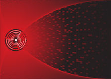 Abstract background. It is a red comet in a red space Royalty Free Stock Images