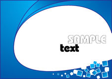 Abstract  background. Blue abstract blanc  background Royalty Free Stock Photo