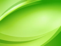 Abstract background. Abstract green background with smooth curves stock illustration