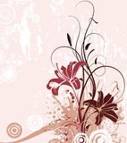 Abstract  background. Abstract floral background. A vector format is added. Suits well for a postcard or background Royalty Free Stock Photos