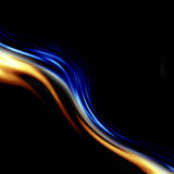 Abstract background. With a golden and blue wave in it Royalty Free Stock Photos
