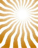 Abstract background. With orange rays royalty free illustration