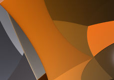 Abstract Background 57. Study of form and color, 3D rendered image produced with Bryce vector illustration