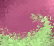 Abstract background. A wawe of green on a pink background on an abstract coulored background Stock Photos