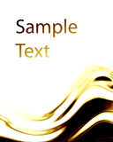 Abstract background. With golden wave in it Stock Image