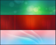 Abstract background. A set of 3 backgrounds in different styles and colors Royalty Free Stock Images