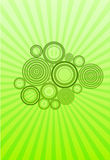 Abstract background. With circles and sunset Royalty Free Illustration