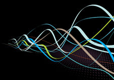Abstract background. Abstract lines background: composition of colored curved lines - great for backgrounds, or layering over other images Stock Photography