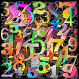 Abstract Background. Pattern with Numbers Royalty Free Stock Images