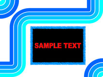 Abstract background. Blue lines vector illustration Royalty Free Stock Photo