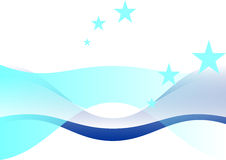 Abstract Background. With blue curve and star royalty free illustration