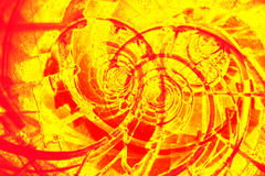 Abstract background. Abstract red and yellow spiral background Royalty Free Stock Photos