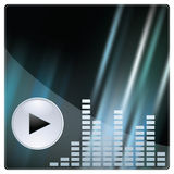 Abstract background. With equalizer. Vector illustration with mesh Royalty Free Stock Image