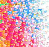Abstract Background. A abstract background made out of colour and square shapes stock illustration