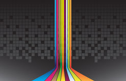 Abstract  background. Colorful lines on the dark background Royalty Free Stock Image