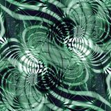 Abstract background. Symmetric green abstract background with rounded graphic elements Stock Illustration