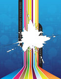 Abstract background. Splash on the colorful background Stock Photo