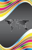 Abstract background. And map of the world Royalty Free Stock Photos