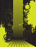 Abstract background. Black and yellow abstract background Royalty Free Stock Images