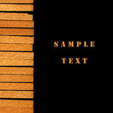 Abstract background. With a wooden strip Royalty Free Stock Images