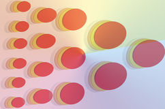 Abstract Background. Decorative round pattern with  illustration Stock Photography