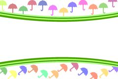 Abstract Background. With dynamic colorized umbrellas Stock Photography