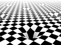 Abstract background. Of checker surface Royalty Free Stock Image