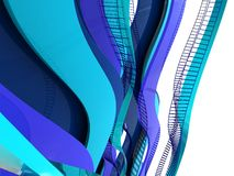 Abstract background. Abstract 3d render of blue curves background Royalty Free Stock Photos