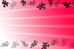 Abstract Background. Different detail of abstract Background appear with isolated puzzles Stock Photos