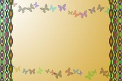Abstract Background. Different detail of abstract Background appear with isolated butterfly's and jingles Royalty Free Stock Photo