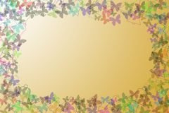 Abstract Background. Different detail of abstract Background appear with isolated butterfly's and jingle bells Stock Photos