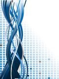 Abstract background. With blue lines Royalty Free Stock Photography