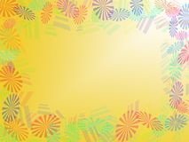 Abstract Background. Different detail of abstract Background appear with isolated flowers Royalty Free Stock Image