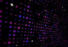 Abstract background. Vector illustration of disco lights dots pattern on black background Royalty Free Stock Photos