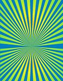 Abstract background. Yellow green blue sun Stock Images