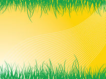 Abstract background. A cool detail of sun rays with crops and grass designed by illustration royalty free illustration