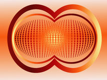 Abstract background. Of dots and orbs Royalty Free Stock Image