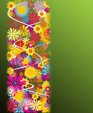 Abstract background. With beautiful flowers Royalty Free Stock Photo
