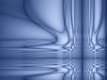 Abstract background. With flowing lines and reflections Stock Photography