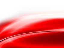Abstract background. Red abstract metallic waves and curves on white background Royalty Free Stock Photo
