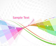Abstract background. Abstract multi color arrow wave linebackground royalty free illustration