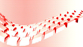 Abstract background. 3d red abstract dotted background vector illustration