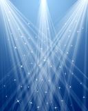 Abstract Background. Abstract blue background with stars Royalty Free Stock Photos