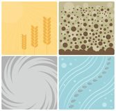 Abstract Background. Four elements abstract backgrounds set vector illustration